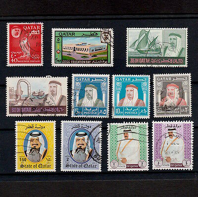Qatar Selection Of Portrait Stamps, Values To Five Rials (11)