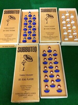 Subbuteo Rugby Teams x3 ALL BOXED - COMPLETE VGC - Collectable HEAVYWEIGHT