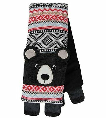 Aroma Home KNITTED ANIMAL Microwavable Neck Warmer BODY WRAP BEAR Scented Black
