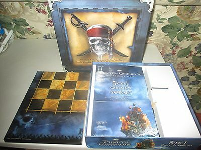 Pirates of the Caribbean On Stranger Tides 5 In 1 Game Set Checkers Backgammon