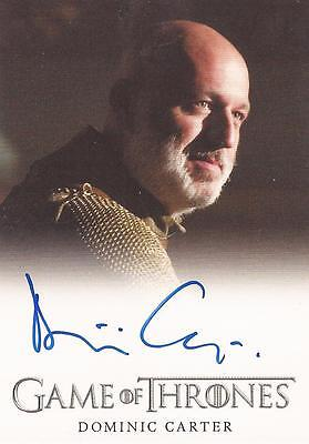 "Game of Thrones Season 4 - Dominic Carter ""Janos Slynt"" Autograph Card"