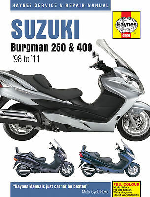 Suzuki Burgman 250 & 400 1998 to 2011 Haynes Manual