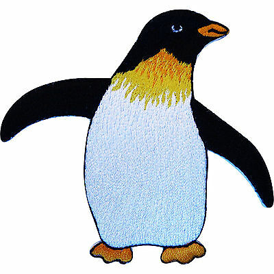 Embroidered Iron On Penguin Patch Sew On Bird Badge for Clothes Jacket Jeans Bag