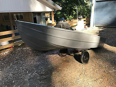 11.5ft TINNY WITH 6HP MERCURY OUTBOARD