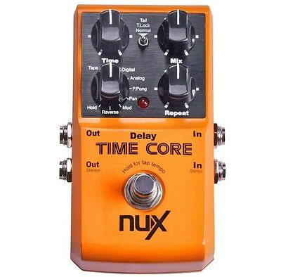 NUX Time Core Multi Delay Pedal - 8 Delays und Looper Funktion