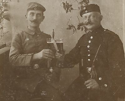 German WW1 Photograph, Soldiers, Raise A Glass, 1914-1918 (T1)