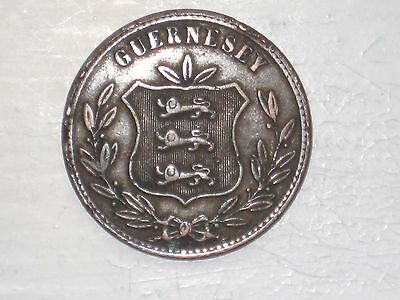 Worls Coins - Guernsey - 8 Doubles - 1874