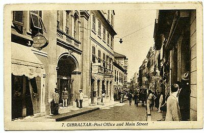 GIBRALTAR, Post Office and Main Street, L. Roisin, c. 1930s, no. 7