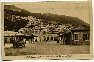 GIBRALTAR, Entrance to Town and Waterport Gate, L. Roisin, c. 1930s, no. 5