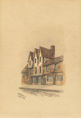 Edward Pococke - 19th Century Pen and Ink Drawing, Charing X, Norwich