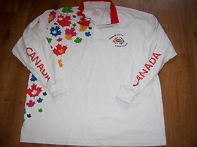 1995 Canada World Cup Rugby Union L/s Shirt Top Jersey Adults XXL