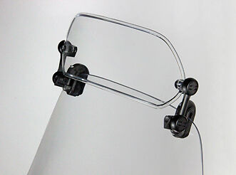 MRA X-Creen Sports Motorcycle Windshield Extension Spoiler - Clear. MRUXCSA-0