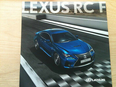 Lexus Rc F Brochure November 2014 - 41 Pages