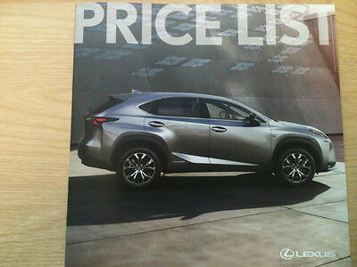 Lexus Price List Brochure April 2016 - 22 Pages