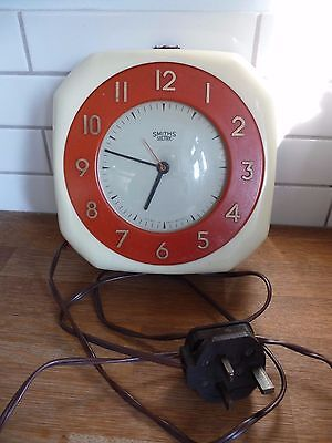 Vintage 1950's Smiths Electric Retro Wall Clock
