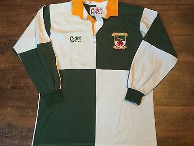 1994 South Africa v England L/s Rugby Union Shirt Adults Large Springboks Jersey