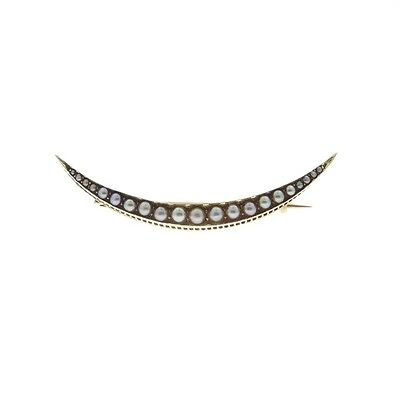 Antique 15ct Gold Seed Pearl Brooch circa 1900