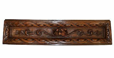 French Gothic Decorative Carved Wood Panel - Drawer Pull Front - Grotesque