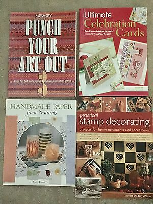 Paper Cards Stamping books x4 bulk mixed craft Punch Your Art Out 3