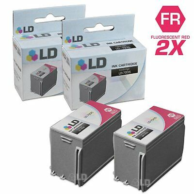 Compatible Set 2 Pc Fluorescent Red Ink Cartridge Printer Supply Digital Office