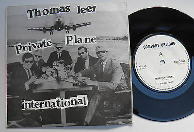 "Thomas Leer-Private Plane-UK Vinyl 7""-DIY Minimal Synth Wave Private-1978-HEAR"