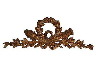 French Decorative Louis XVI Ormolu Bronze Pediment - Furniture Salvage Ornament