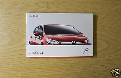 Citroen C4 Owners Manual Handbook 2015-2016 Book