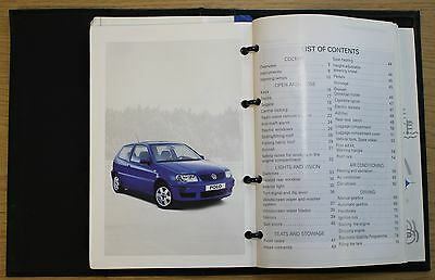 Vw Polo Handbook Owners Manual Wallet 1999-2001 Pack 8308