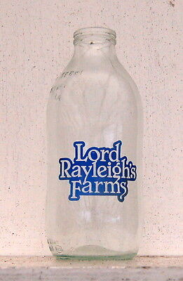 nice Lord Rayleighs Farms milk bottle : dairy (early pintie)