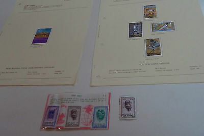 9 Ivory Coast mint stamps. 5 are CTO.