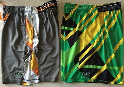2 Pairs Reckless Lacrosse Gear Shorts Mens Size Extra Large XL