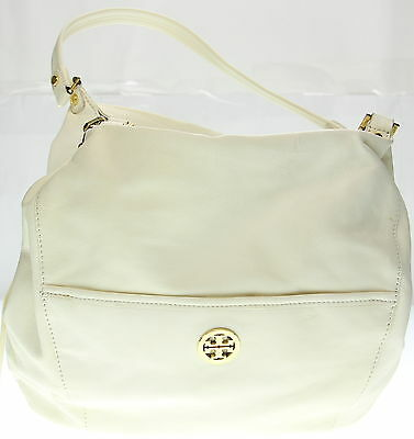 Women's TORY BURCH Off White Leather Shoulder Purse Size M