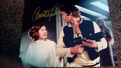 Carrie Fisher and Harrison Ford Genuine hand signed 10 x 8 Photo