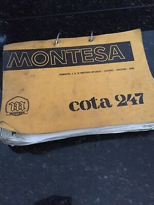 Montesa Cota 247 Dealer Parts Book With Specifications