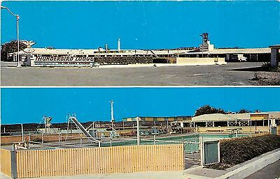 Gallup New Mexico~Thunderbird Lodge on Hwy 66~Exterior & Swimming Pool~1961 PC
