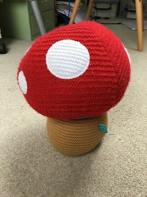 Little Bird Knitted Toadstool Door Stop Kids Bedroom Decor Fairy