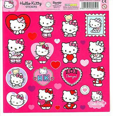 Valentine Love Hello Kitty Stickers Sheet