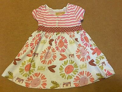 Next Girl Pink and White Dress Top 5yrs