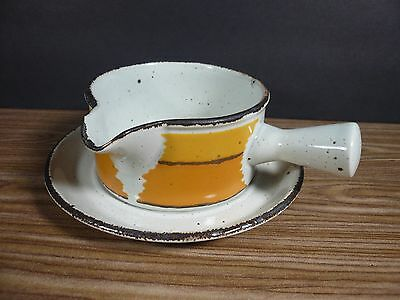 Midwinter Wedgwood Stonehenge Sun Gravy Boat with Underplate England