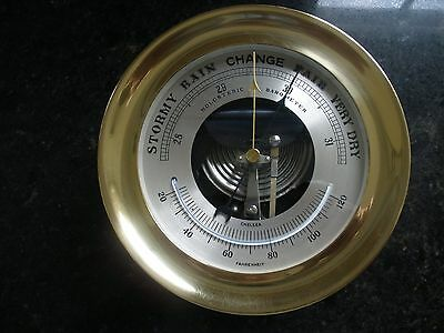 Chelsea Clock Co. - Six Inch Brass Barometer, Ca. 1986
