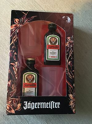 Jaegermeister Presentation Box including 2x 2cl bottles and 2x shot glasses