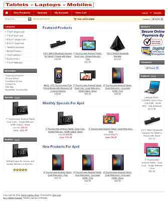 READY TO GO eCOMMERCE WEBSITE Inc CARD PAYMENT SYSTEM - JUST ADD YOUR PRODUCTS
