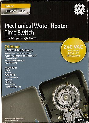 GE Heavy Duty Mechanical Water Heater Timer / Time Switch 240v