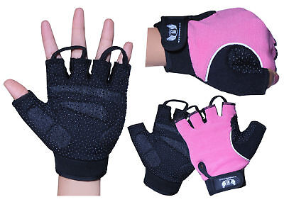 Ladies Wheelchair Gloves Fingerless Gel Padded Cycling Weight Lifting Mobility