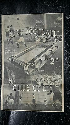 Bury v Leicester City 1946-47