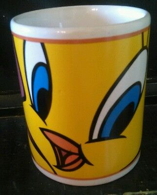 Warner Bros Purple Yellow Tweety Bird Mug Coffee Cup Looney Tunes by Gibson Tea