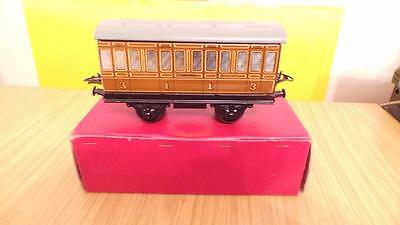 P455A:  Hornby 'O' Gauge No.1 LNER 1st & 3rd Passenger Coach (Exc and Boxed)