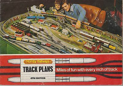 Hornby 00 Gauge Model Railways Track Plans Book 4Th Edition ( 1976 )