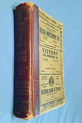 680 Pages!! 1938 POLK'S DIRECTORY of TOPEKA KS & SHAWNEE CO. People & Businesses