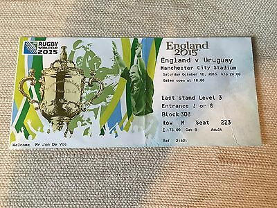 2015 - England v Uruguay Rugby World Cup Used Ticket, Very Good Condition